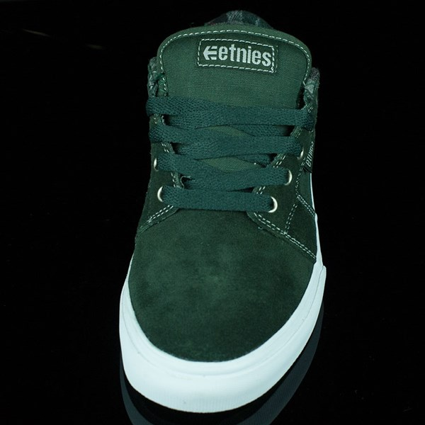 etnies Barge LS Shoes Forest Green Rotate 6 O'Clock