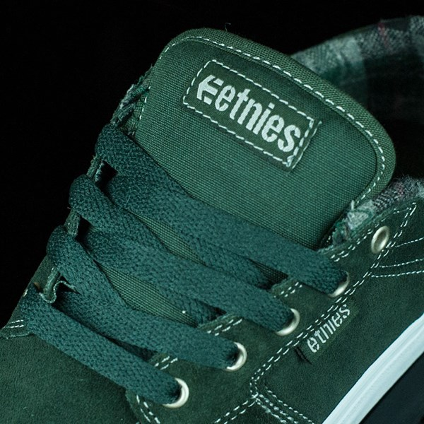etnies Barge LS Shoes Forest Green Tongue