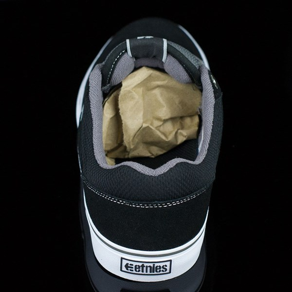 etnies Marana Vulc Shoes Black, Grey Rotate 12 O'Clock