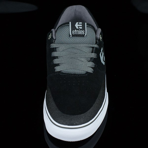 etnies Marana Vulc Shoes Black, Grey Rotate 6 O'Clock