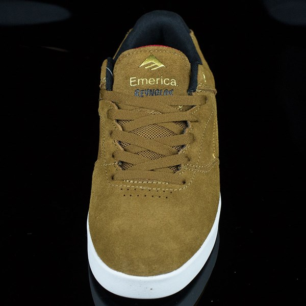Emerica The Reynolds Low Shoes Brown, White Rotate 6 O'Clock