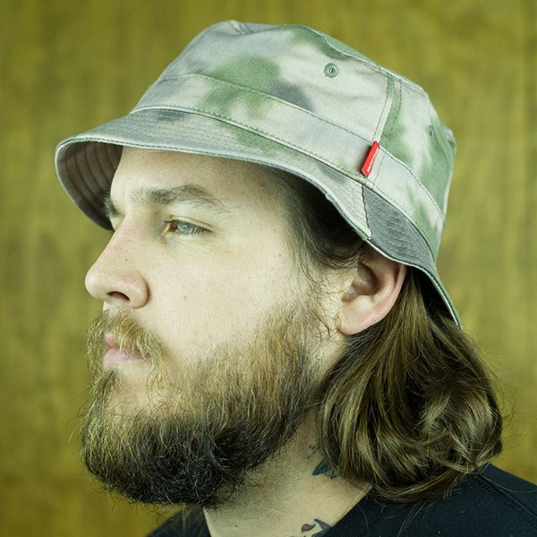 Asphalt Yacht Club Conceal Bucket Hat Camo From the front.