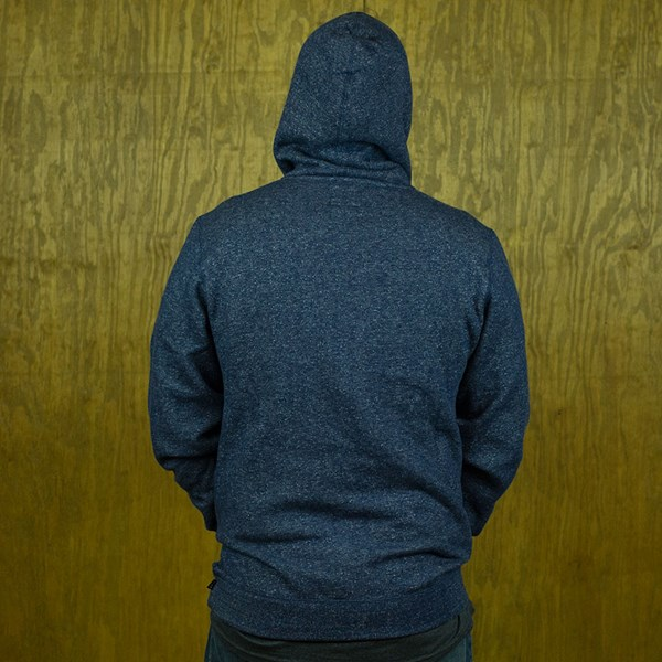 HUF Cadet 2.0 Pullover Hooded Sweatshirt Navy Heather From the back.