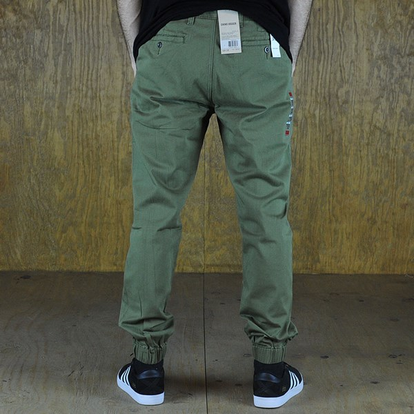 Levi's Chino Joggers Burnt Olive From the back.