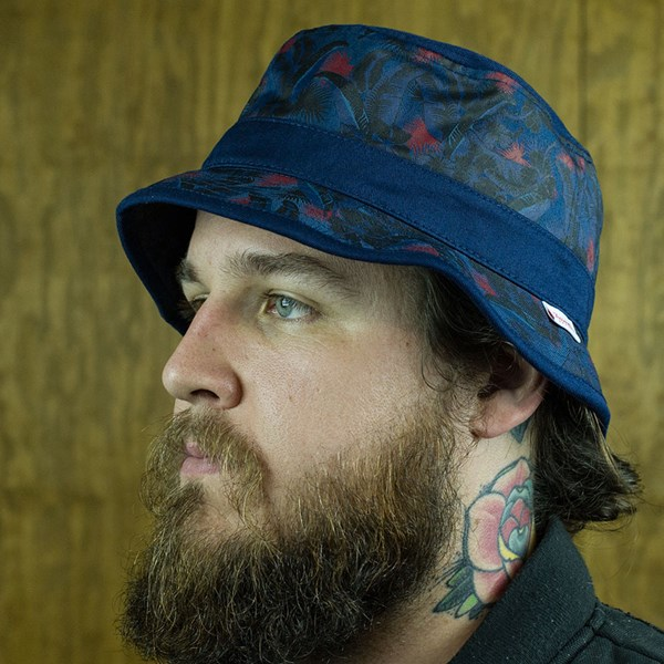 Primitive Delta Bucket Hat Navy From the front.