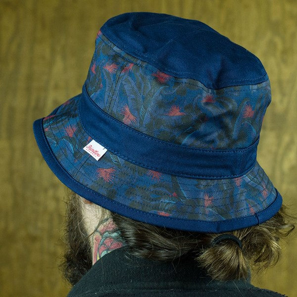 Primitive Delta Bucket Hat Navy From the back.
