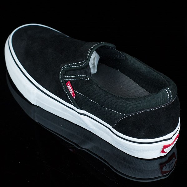 Vans Slip On Pro Shoes Black, White, Red Rotate 7:30