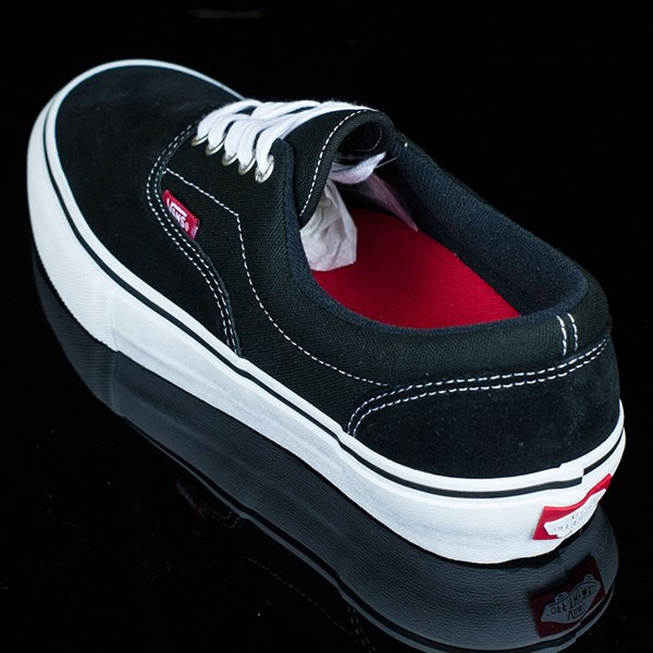 Vans Era Pro Shoes Black, White, Red Rotate 7:30