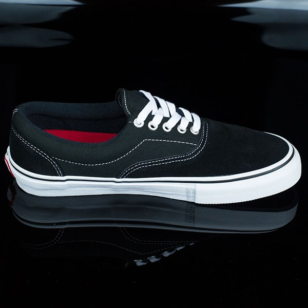 Vans Era Pro Shoes Black, White, Red Rotate 3 O'Clock