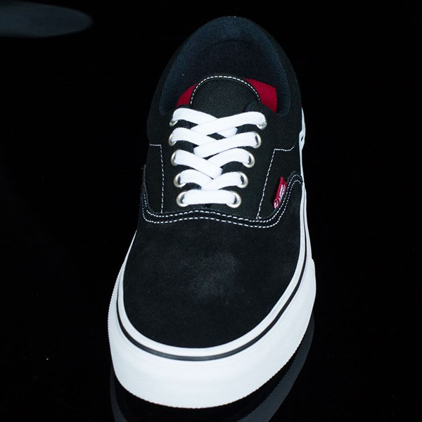 Vans Era Pro Shoes Black, White, Red Rotate 6 O'Clock