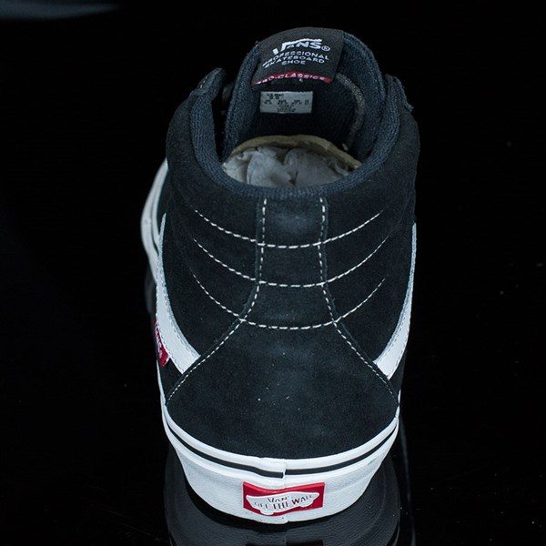 Vans Sk8-Hi Pro Shoes Black, White, Red Rotate 12 O'Clock