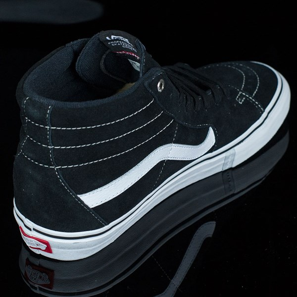 Vans Sk8-Hi Pro Shoes Black, White, Red Rotate 1:30
