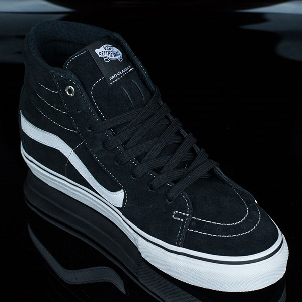 Vans Sk8-Hi Pro Shoes Black, White, Red Rotate 4:30
