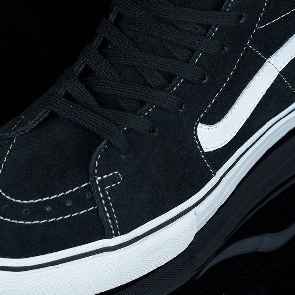 Vans Sk8-Hi Pro Shoes Black, White, Red Closeup