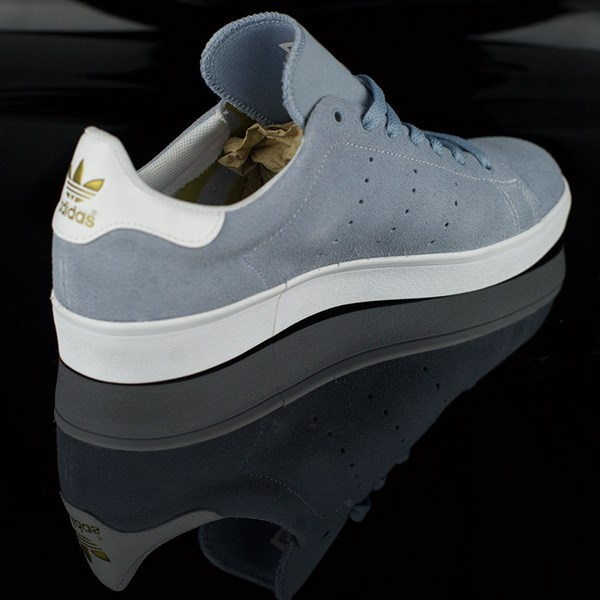 size 40 31ddc 02077 Stan Smith Vulc Shoes Dust Blue, White In Stock at The Boardr