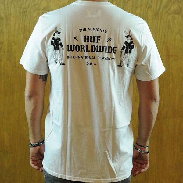 HUF International Playboys T Shirt White Back