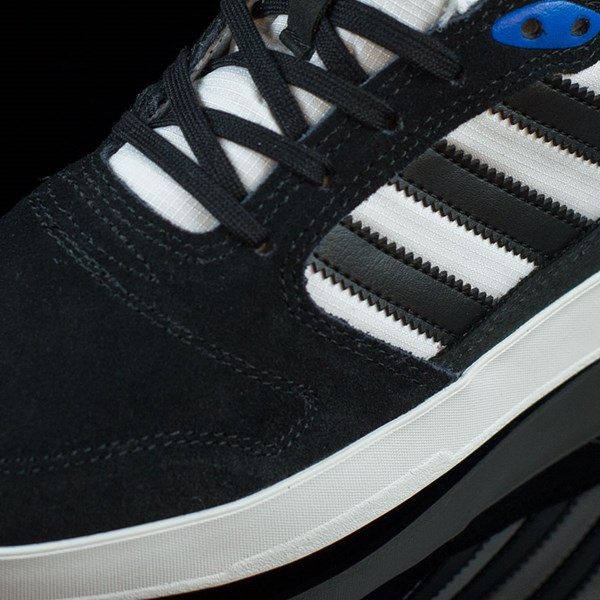 adidas ZX Vulc Shoes Black, White, Rodrigo TX Closeup