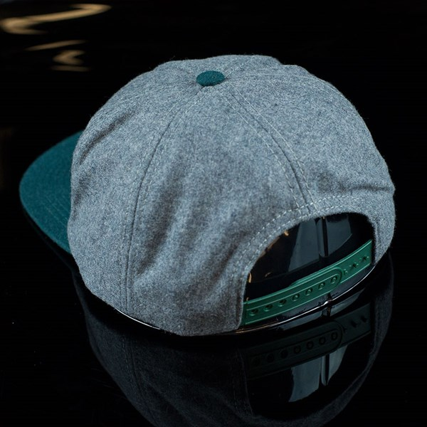 The Official Brand Knobbed Snap Back Hat Grey Back
