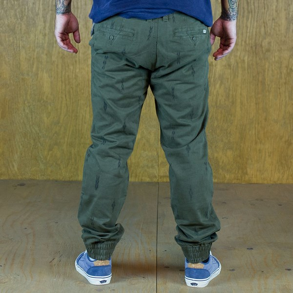 Vans Excerpt Pegged Chino Pants Forest Night Pattern Back