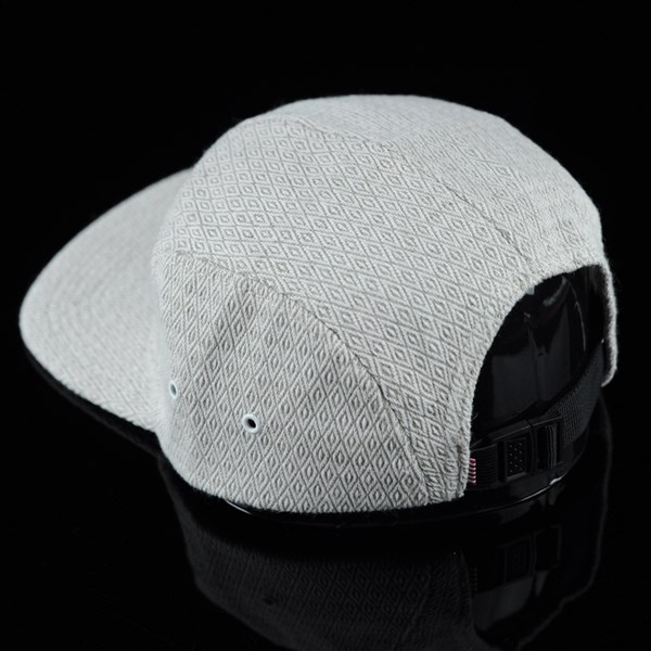 Herschel Glendale 5 Panel Strap Back Hat Diamond Hemp back