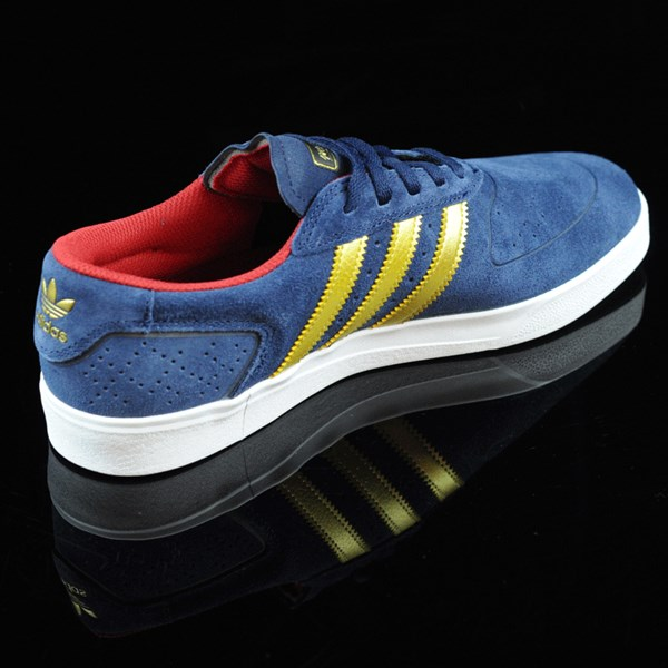 adidas Silas Vulc ADV Shoes Navy, Gold Rotate 1:30