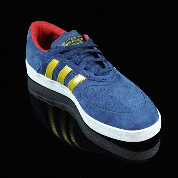 adidas Silas Vulc ADV Shoes Navy, Gold Rotate 4:30