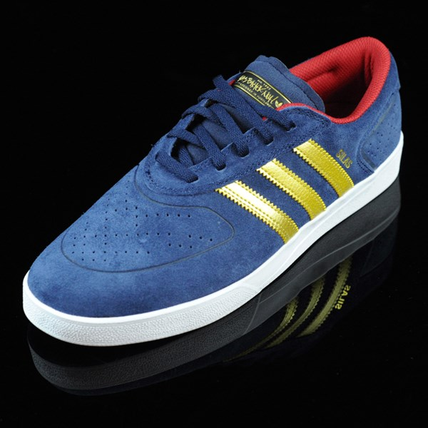 adidas Silas Vulc ADV Shoes Navy, Gold Rotate 7:30