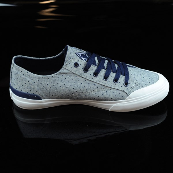 HUF Classic Lo Shoes Navy Dot Rotate 3 O'Clock