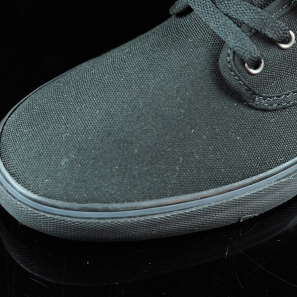 Emerica Wino Cruiser Shoes Black, Black Closeup