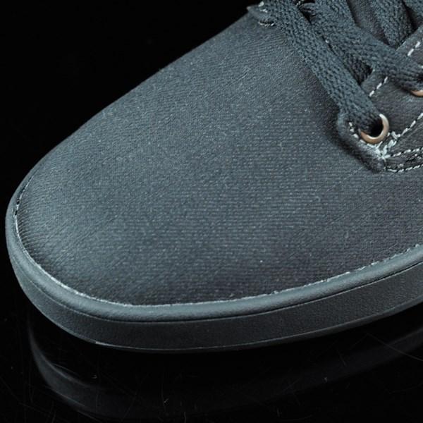 Emerica The Romero Laced Shoes Black, Black, Gum Closeup