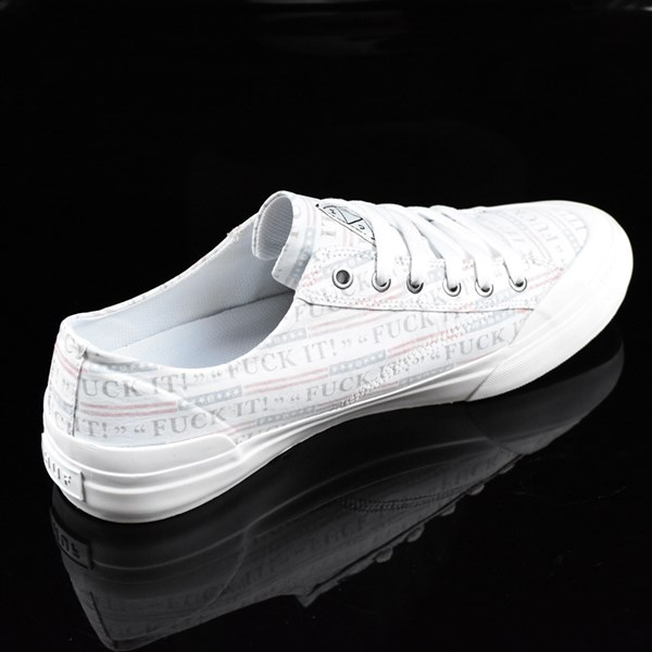 HUF Classic Lo Shoes Fu-k It, White Rotate 1:30