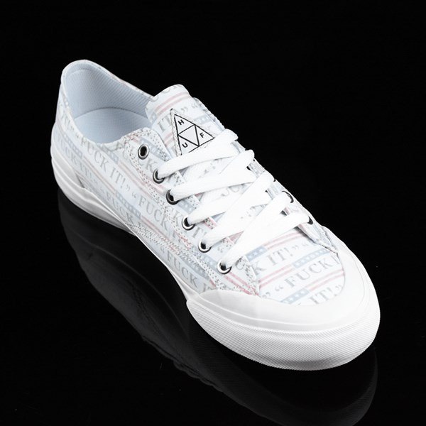 HUF Classic Lo Shoes Fu-k It, White Rotate 4:30