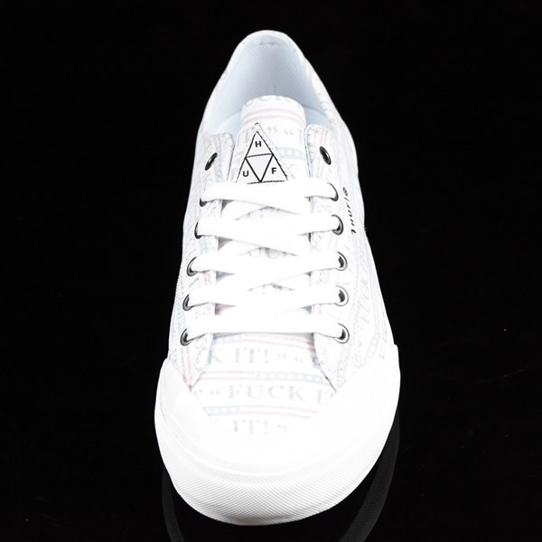 HUF Classic Lo Shoes Fu-k It, White Rotate 6 O'Clock