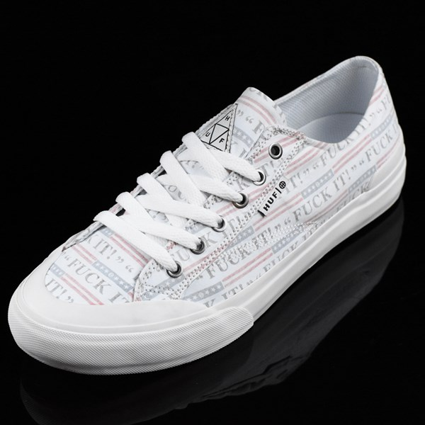 HUF Classic Lo Shoes Fu-k It, White Rotate 7:30
