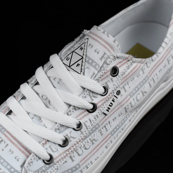 HUF Classic Lo Shoes Fu-k It, White Tongue