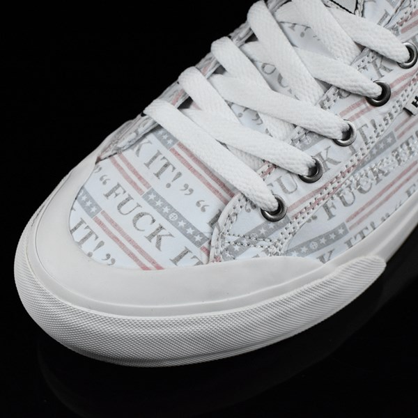 HUF Classic Lo Shoes Fu-k It, White Closeup