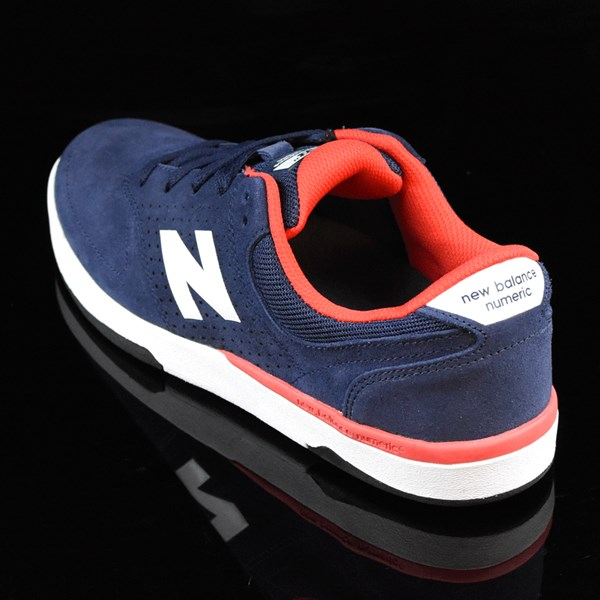 NB# Stratford Shoes Navy, Red Rotate 7:30