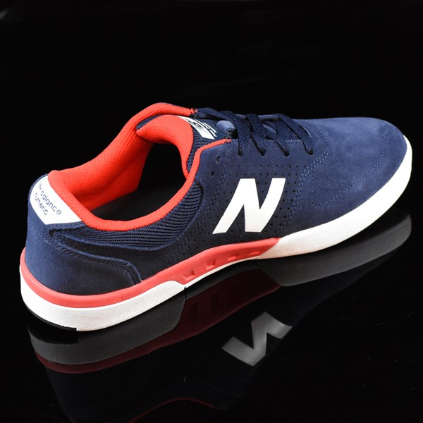 NB# Stratford Shoes Navy, Red Rotate 1:30