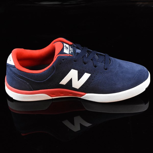 NB# Stratford Shoes Navy, Red Rotate 3 O'Clock