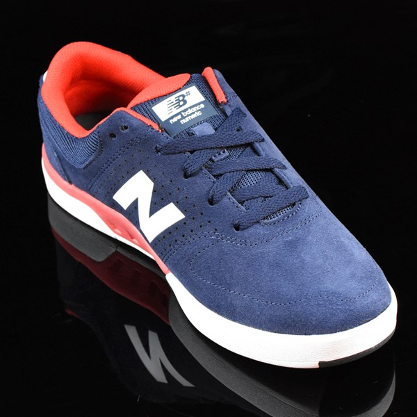 NB# Stratford Shoes Navy, Red Rotate 4:30