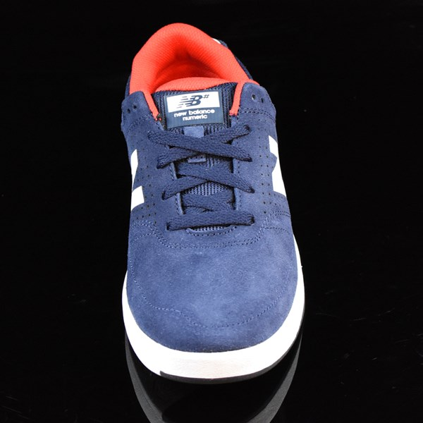 NB# Stratford Shoes Navy, Red Rotate 6 O'Clock