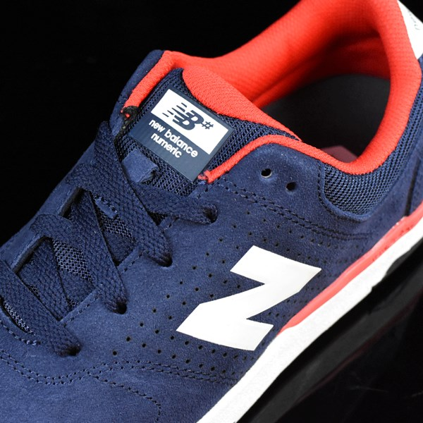 NB# Stratford Shoes Navy, Red Tongue