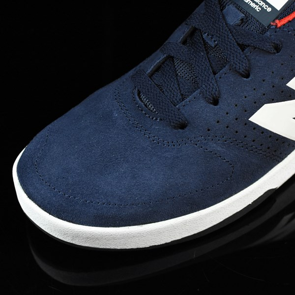NB# Stratford Shoes Navy, Red Closeup