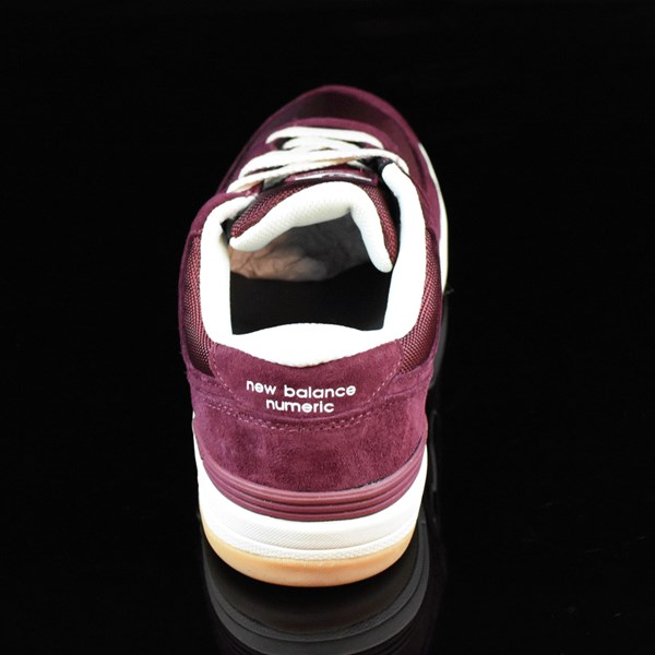NB# Logan-S 636 Shoes Maroon, Cream Rotate 12 O'Clock