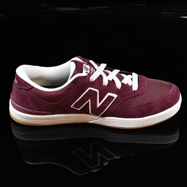 NB# Logan-S 636 Shoes Maroon, Cream Rotate 3 O'Clock