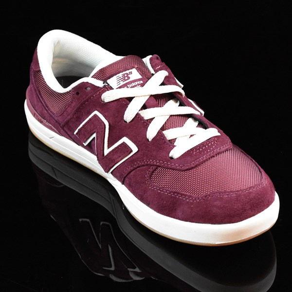 NB# Logan-S 636 Shoes Maroon, Cream Rotate 4:30