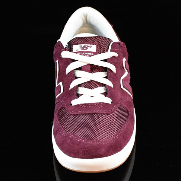 NB# Logan-S 636 Shoes Maroon, Cream Rotate 6 O'Clock