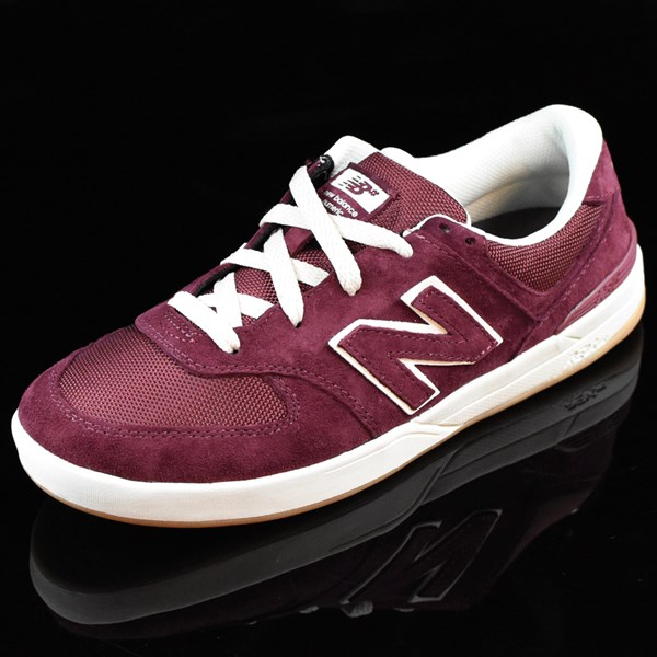 NB# Logan-S 636 Shoes Maroon, Cream Rotate 7:30