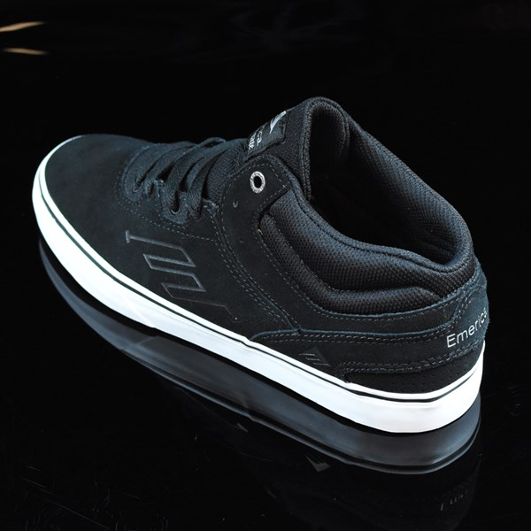 Emerica The Westgate Mid Vulc Shoes Black, White Rotate 7:30
