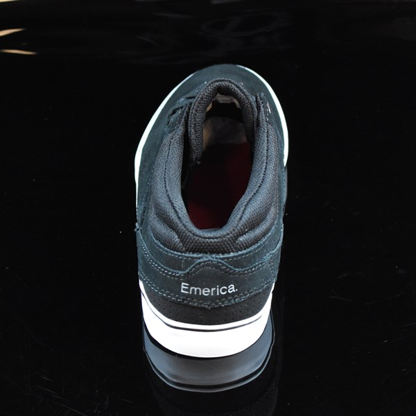 Emerica The Westgate Mid Vulc Shoes Black, White Rotate 12 O'Clock